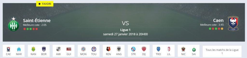Le pronostic Saint-Etienne Caen Ligue 1 de RDJ donne les Stéphanois favoris !